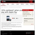 20% Rebate/Cashback (Capped at $10) on Apple Pay Payments with DBS/POSB Cards