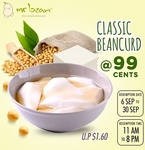 Classic Beancurd for $0.99 (U.P. $1.60) at Mr Bean via Qoo10