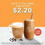 Small Cafe Latte for $2.20 at The Coffee Bean & Tea Leaf