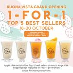 1 for 1 Top 5 Best Selling Drinks at Playmade by One Zo (Buona Vista)