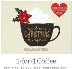 1-for-1 Coffee at Doi Chaang Coffee (Rochester Mall) (Facebook Required)