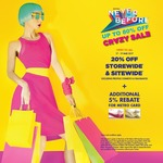 20% off at Metro (Online & In-Store) Plus Extra 5% Rebate with Metro Cards