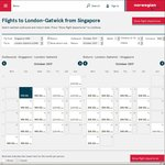 Singapore to London Return $520 (or $199 One Way) Via Norwegian Shuttle (Sept 17 - March 18)