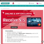 Spend $70 and Receive a Free $15 eVoucher at Watsons (POSB Everyday Cards)