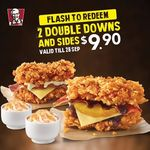 2x Double Downs and 2x Regular Whipped Potato for $9.90 (U.P. $16.70) at KFC