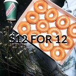 Krispy Kreme: 12 Doughnuts for $12 One-Day Promo on Thursday, 12 Oct 2017