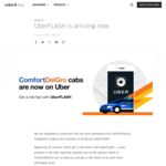 $3 off UberFLASH or uberPOOL Rides (Private Hire Cars & ComfortDelGro Taxis) with Uber