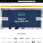 18% off Sitewide at Zalora ($80 Minimum Spend)