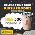 Free Pearl Milk Tea from Gong Cha (NUS & SMU Outlets)  [11.30am to 12.30pm]