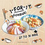1-for-1 Chirashi Don, Aburi Salmon Don, Bara Chirashi Don (U.P. $16.80 Onwards/Bowl) @ En Sushi