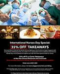 International Nurses Day Special: 35% off Takeaways at Wan Hao Chinese Restaurant and Crossroads