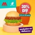 30% off ($25 Min Spend) at MOS Burger/Cafe/Burger Express via Deliveroo