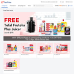 Free Tefal Frutelia Plus Juice with $98 Min Spend on Participating Colgate Products at FairPrice On
