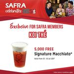 Free Signature Macchiato from Koi The (SAFRA Membres)
