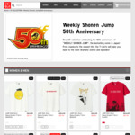 Jump 50th Anniversary UT T-Shirts for $7.90-$9.90 (U.P. $14.90) at UNIQLO
