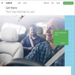 Uber - $15 off First Ride