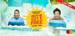 Mastercard® Flash Deal: Buy-1-Free-1 Adventure Cove Waterpark Adult Dated One-Day Ticket at SGD38
