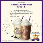 2x Small Beverages for $11 at The Coffee Bean & Tea Leaf