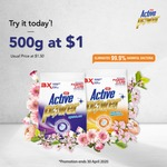 UIC ActivePower+ Laundry Powder Detergent Trial Pack for $1 at FairPrice