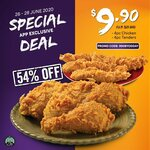 4pc Chicken and 4pc Tenders at $9.90 on Popeyes SG App