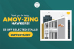 $5 off ($10 Min Spend) at Participating Amoy Street Food Centre Hawker Stalls via WhyQ