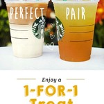 1 for 1 Beverages at Starbucks (30th January to 5th February) for Starbucks Cardholders
