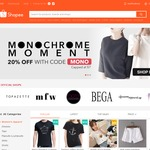 20% off Women's Fashion (Apparel, Shoes, Bags & Watches) Categories at Shopee