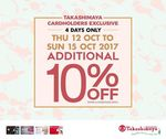 10% off at Takashimaya (Cardmembers)