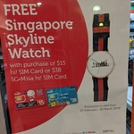 Free SG Skyline Watch with Purchase of Prepaid Singtel $15 Hicard @ 7-Eleven