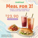 2 Main Courses and 2 Regular Size Iced Teas at $23.90 from Coffee Bean