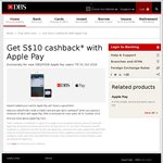 $10 Rebate/Cashback (Minimum Spend $10) on Apple Pay Payments with DBS/POSB Cards