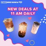 $1 Bubble Tea (from 11am Daily) at Lazada [via App]
