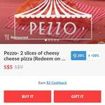 40% Cashback on 2 for $5 Cheesy Pizza Offer at Pezzo Pizza via Fuzzie App