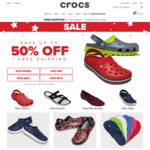 Up to 50% off + Free Shipping Sitewide (No Minimum Spend) at Crocs