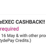 18% Cashback on RydeX and RydeEXEC Rides with RYDE