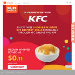 $0.11 Whipped Potato, $1.10 Popcorn Chicken, or $11 for 4pcs Chicken + 4pcs Hot & Crispy Tenders at KFC Delivery ($30 Min Spend)