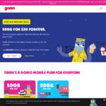 GOMO - 50 GB, 500 SMS & 500 Min for $30 Pop up Plan