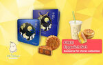 Box of 4 Double-Yolk Mooncake + Free Ham and Cheese Eggwich and Soya Milk for $40.80 at Mr Bean from Fave