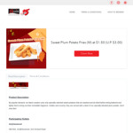 Sweet Plum Potato Fries (M) for $1.50 (U.P. $3) at Shihlin Taiwan Street Snacks via PAssion15 Deals (Passion Card Members)