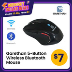 Garethan 5-Button Wireless Bluetooth Mouse $7 + $1.99 Delivery @ Techdeals Pte Ltd via Qoo10