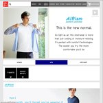 Uniqlo - Womens and Mens AIRism on Sale Mens from $7.90, Womens from $9.90 (U.P. from $14.90)