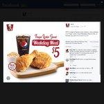 KFC $5 Weekday Deal - 2pcs Chicken, Regular Whipped Potato and Regular Pepsi