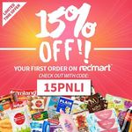 15% off Orders + Free Delivery at Redmart with Code (New Customers)
