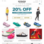 20% off Sitewide at Crocs