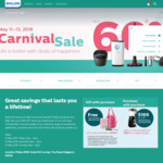 Get up to 60% off at Philips Carnival Sale Clearance from 11 - 13 May