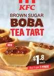 Brown Sugar Boba Tea Tarts at $1.80 Each or Buy 5 Get 1 Free at KFC