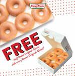 Free Half Dozen Original Glazed Donuts When Any Dozen Purchase at Krispy Kreme
