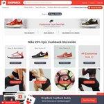 Nike 20% Upsized Cashback (Was 8%) via ShopBack