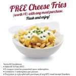 FREE Cheese Fries ($4) with The Purchase of Any Meal at KFC