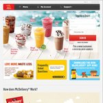 Free Hot Fudge Sundae with Any Lunch or Dinner Order at McDonald's Delivery